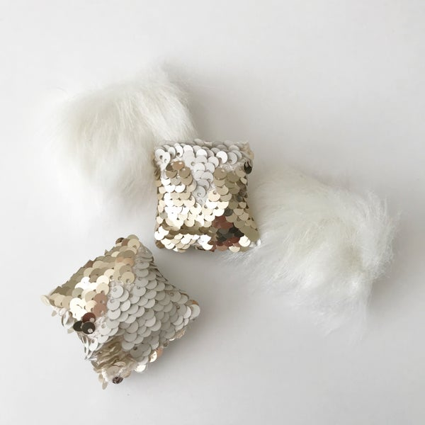 Image of Shag and flip sequin pillows