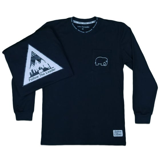 Image of Long Sleeve Pocket Shirt (Black)