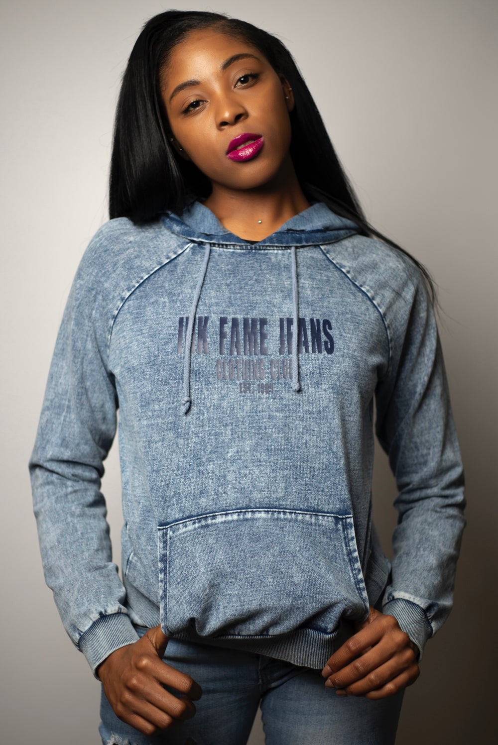 Image of Ink Fame Jeans Denim  Hoodie