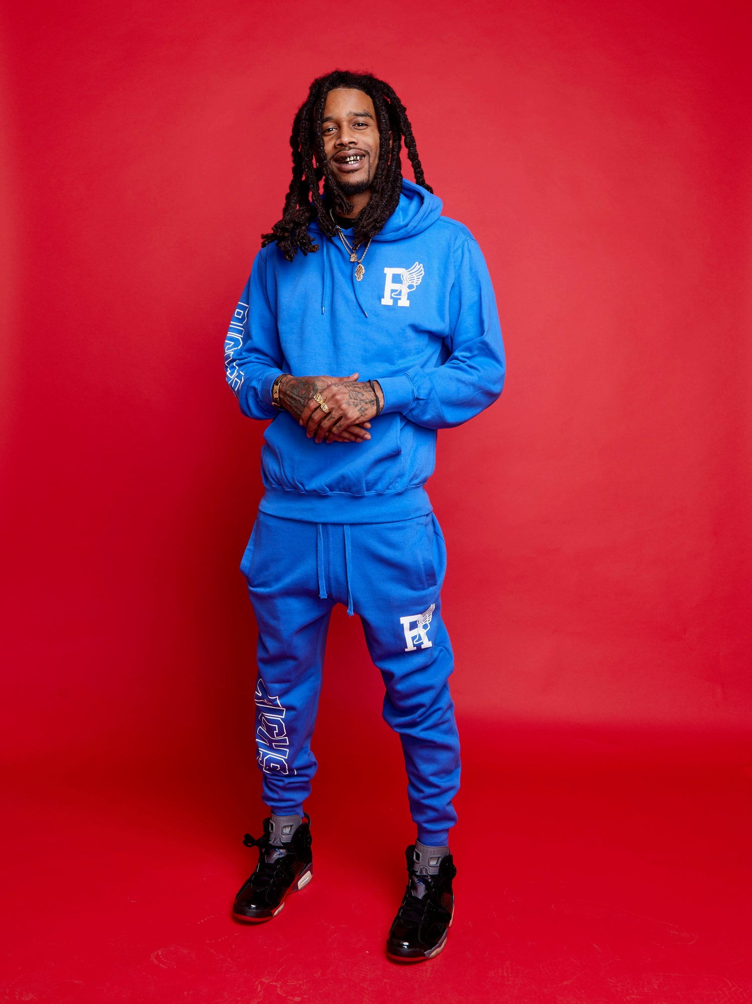 Image of R-Wing Jogging Suit (Blue)