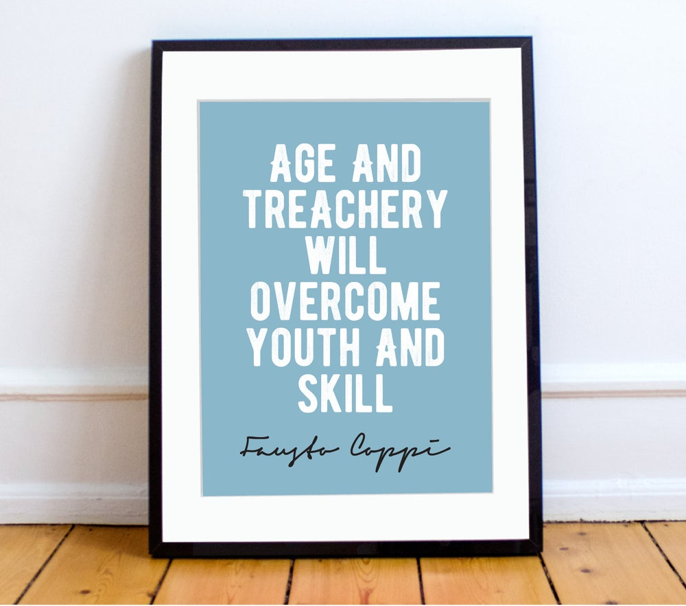 Image of Fausto Coppi quote print - A4 or A3