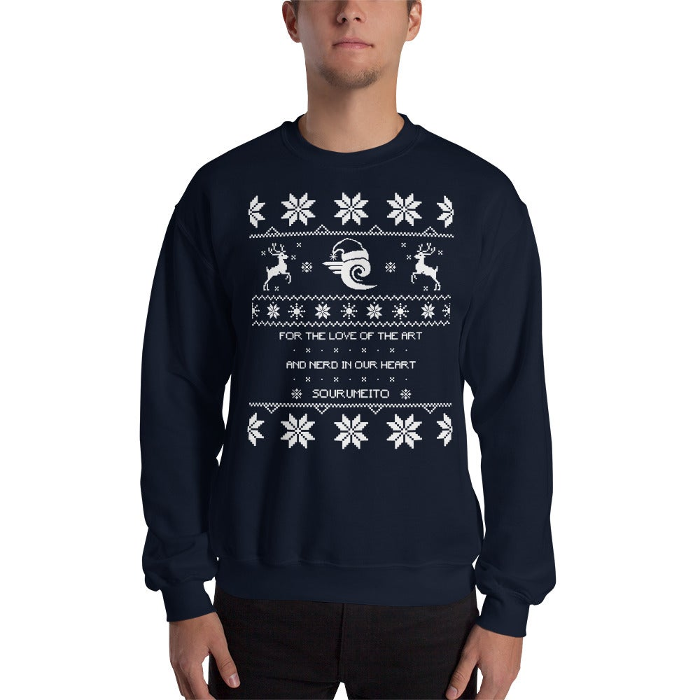 Image of Sourumeito Christmas Sweater (NAVY BLUE)