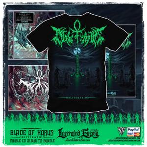 Image of BLADE OF HORUS - Obliteration album TS + Double CD bundle