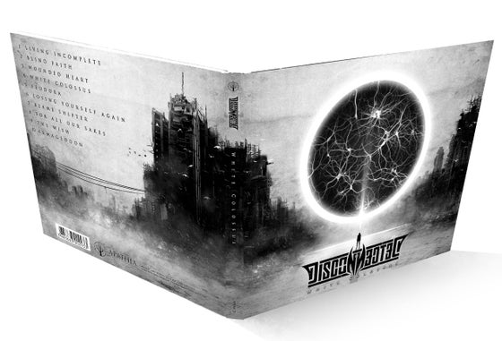 "Image of CD digipack ""White Colossus"" signed by the band"