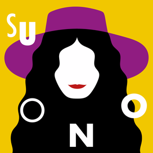 Image of suONO yellow vinyl (Limited edition only available on pre-order), artwork by Olimpia Zagnoli