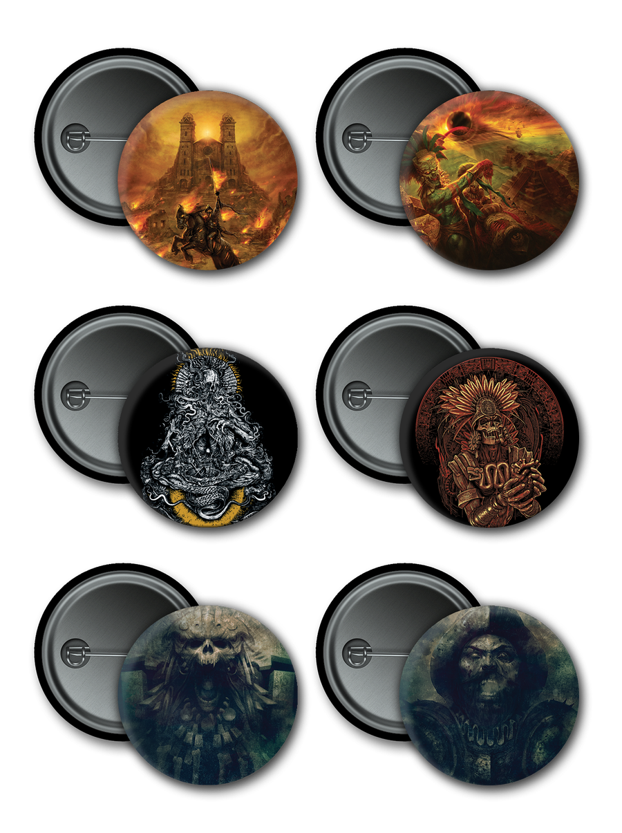 Image of PIN BADGE BUTTON 32 MM - 6 MODELS