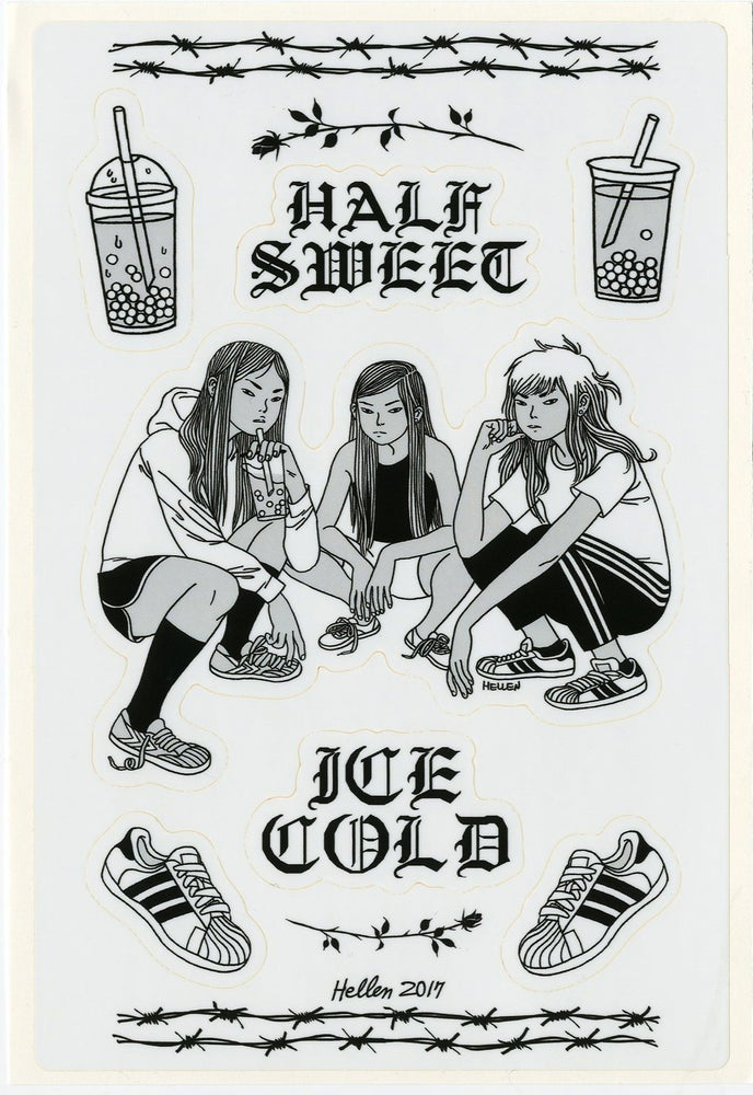 Image of HALF SWEET ICE COLD STICKERS
