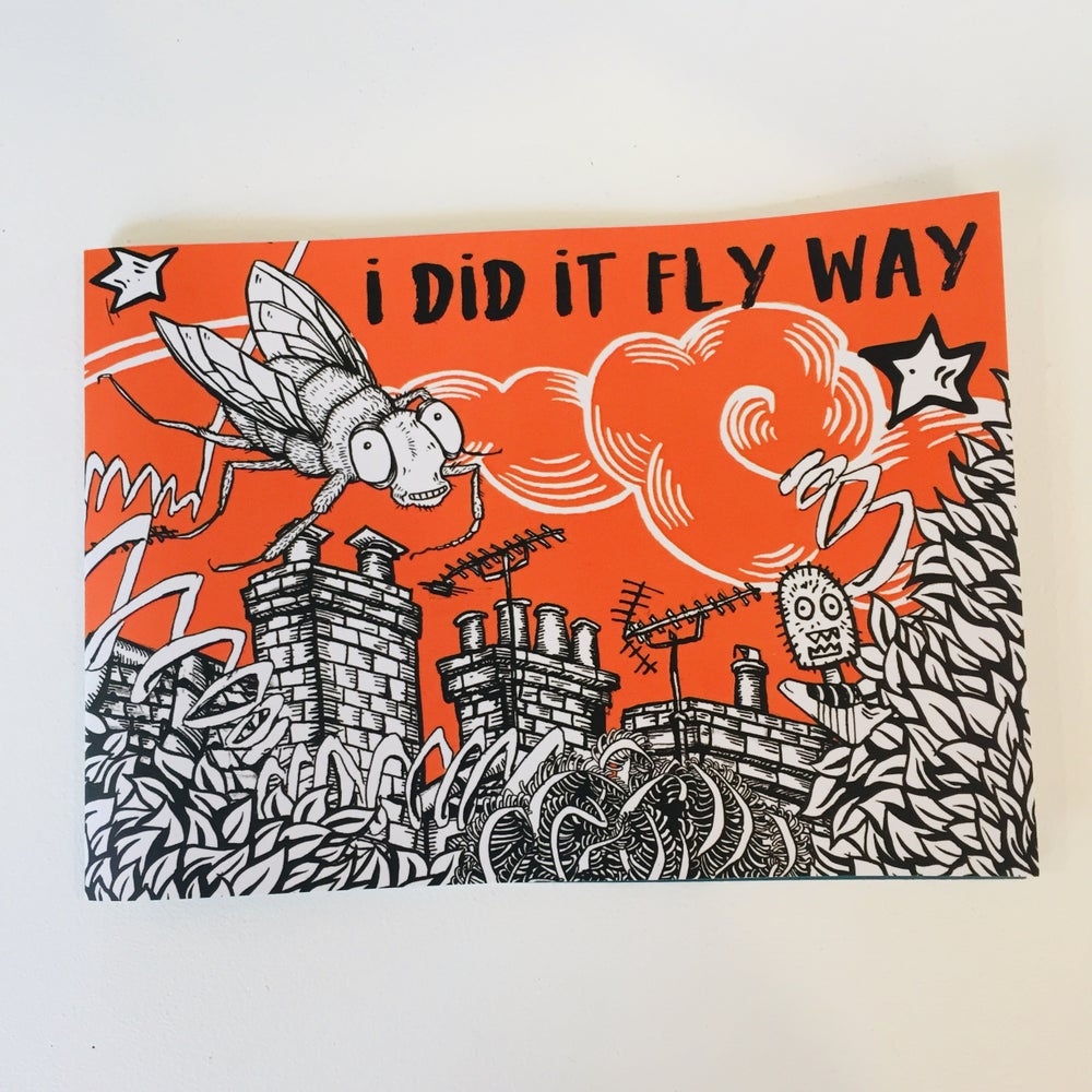 Image of Colouring in Book - 'I did it Fly Way'