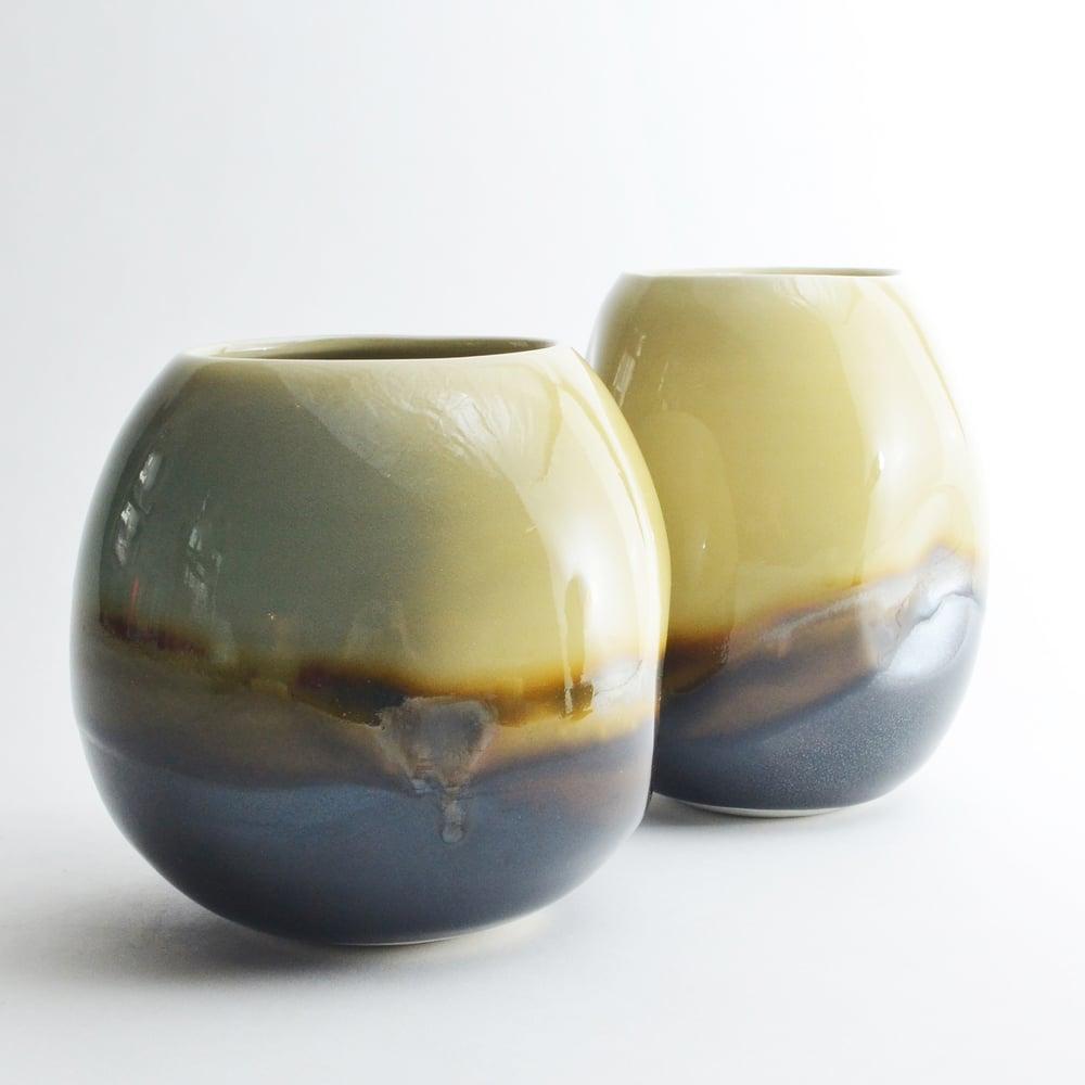 Image of Olive Porcelain Vase