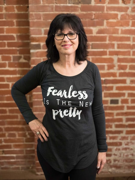 Image of Fearless is the New Pretty Tunic- Charcoal