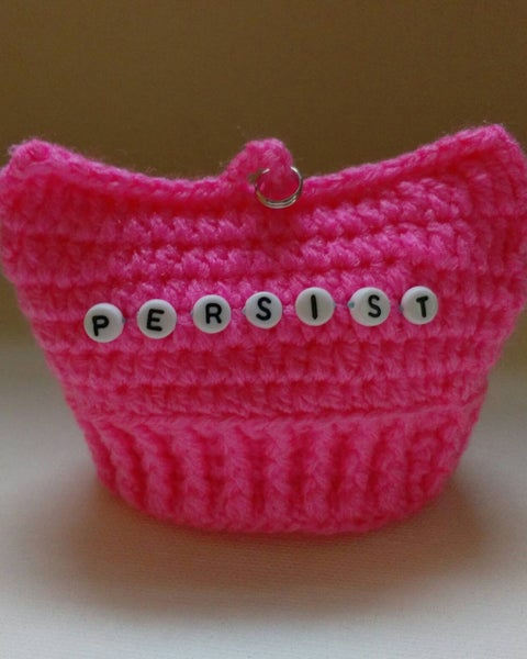 Image of Crochet Pink PUSSY HAT Ornament