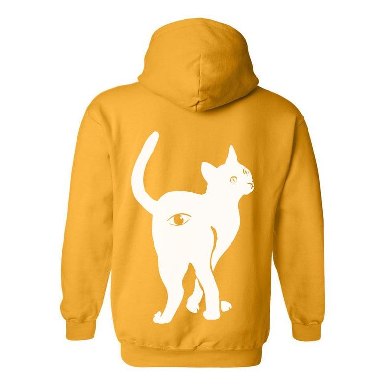 Image of AssholeEyeCat Hoodie - Yellow - Titan Limited