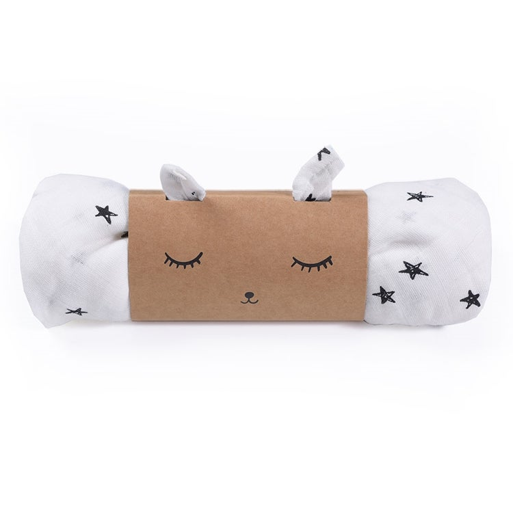 Image of Wee Gallery Muslin Swaddle - Stars