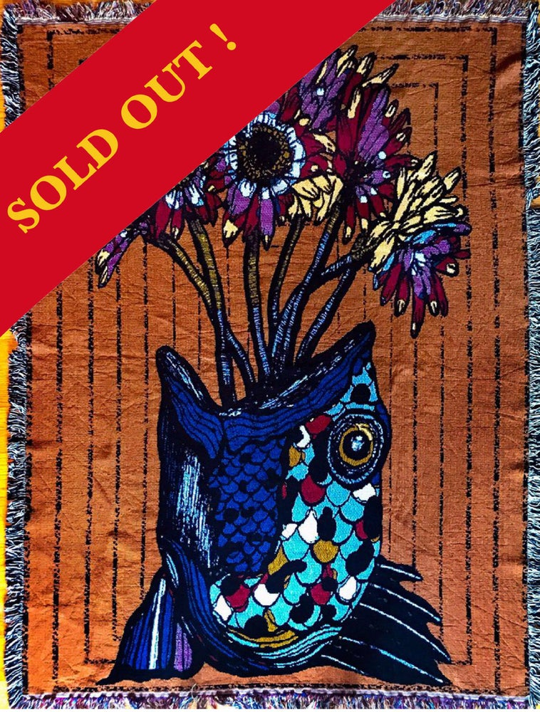 """Image of """"Love & Longing"""" Full Color Woven Tapestry Throw (Limited Edition)"""