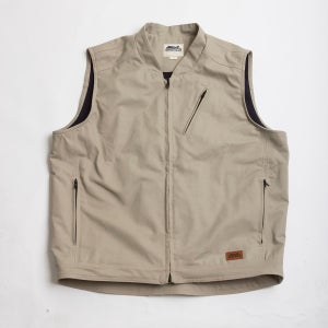 Image of FLEECE LINED CAST IRON VEST - STONE