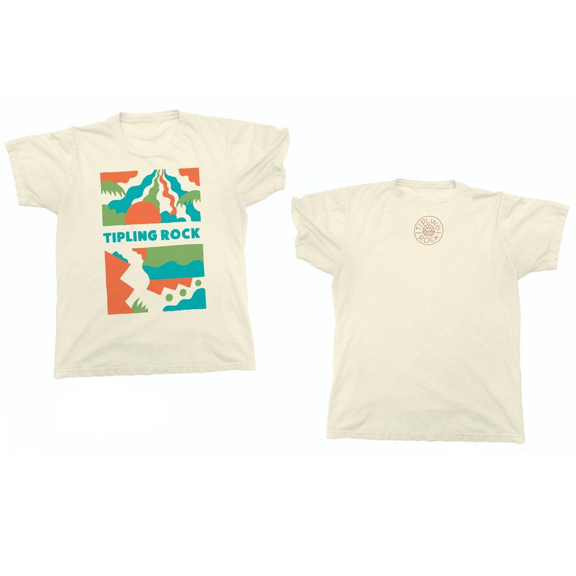 Image of Tipling Rock T Shirt (tan)