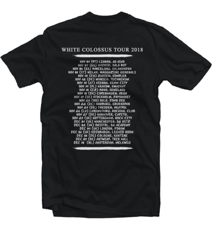 "Image of Pack Cd signed + T-Shirt ""White Colossus Tour 2018"""