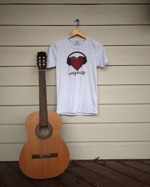 Image of Heart with Headphones Shirt