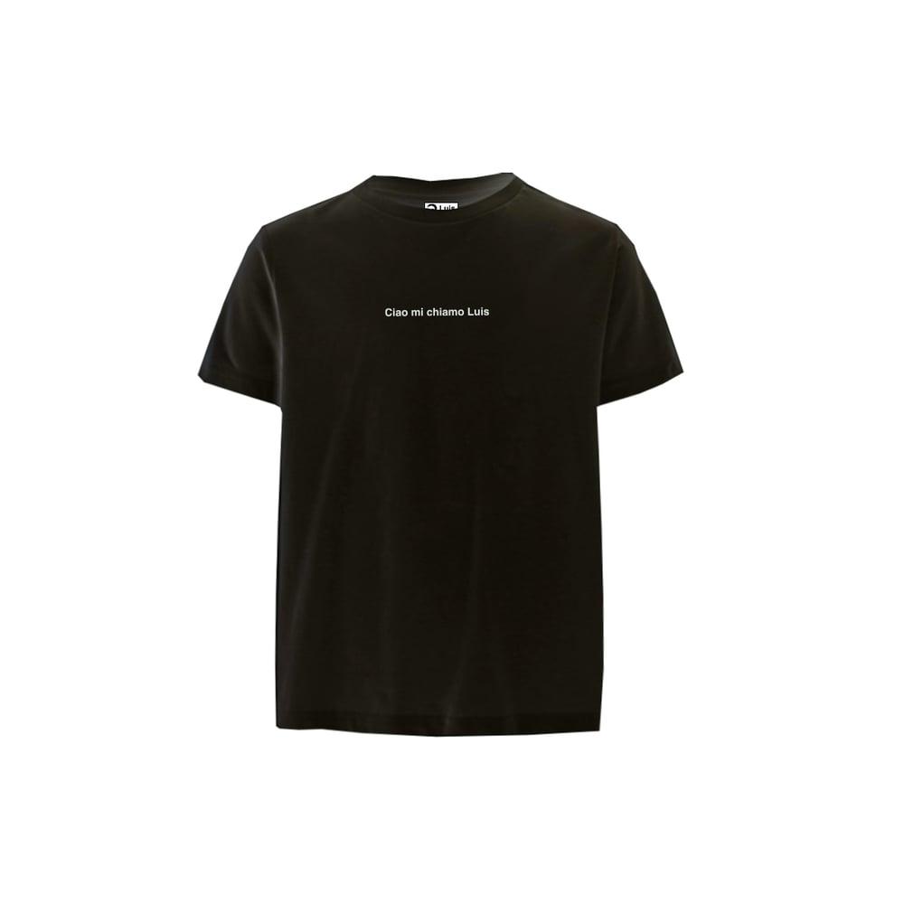 Image of T-shirt CIAO MI CHIAMO LUIS nera