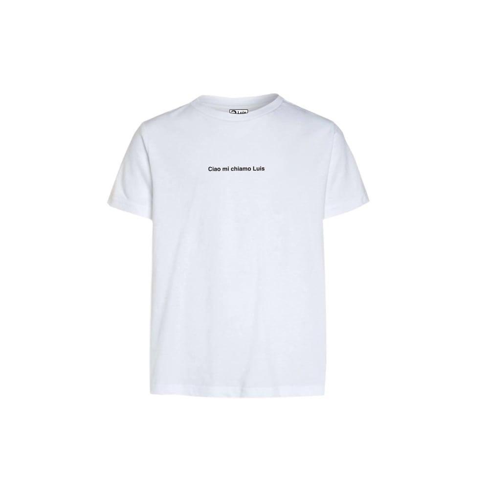 Image of T-shirt CIAO MI CHIAMO LUIS bianca