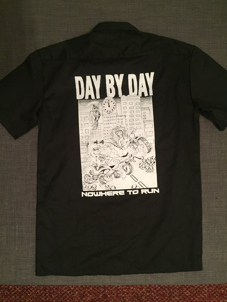 """Image of Day By Day """"Nowhere To Run"""" Work shirt"""