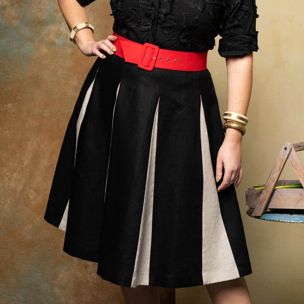 Image of ROMAN HOLIDAY LINEN SKIRT