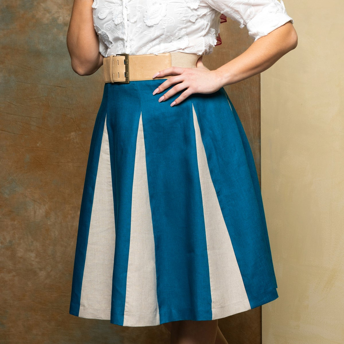 Image of ROMAN HOLIDAY LINEN SKIRT (other options available)