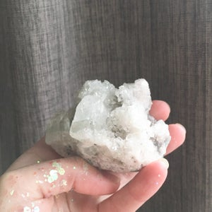 Image of Apophyllite and Quartz Cluster - Icy Mountain - clear to cloudy icy tones
