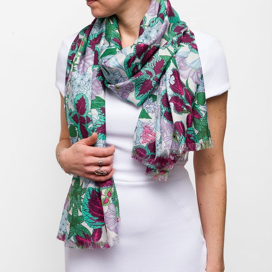 Image of MARIMURTRA OFF WHITE SCARF