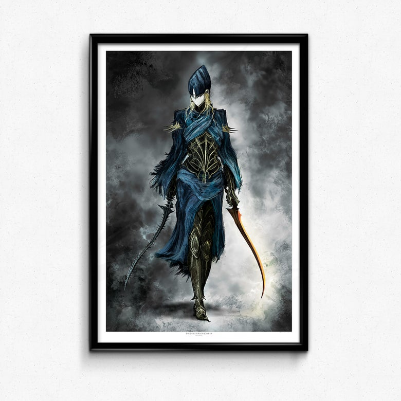Image of  DS Poster, The Lord's Blade Ciaran Art Print, Fantasy, Knight, Painting, Giclée