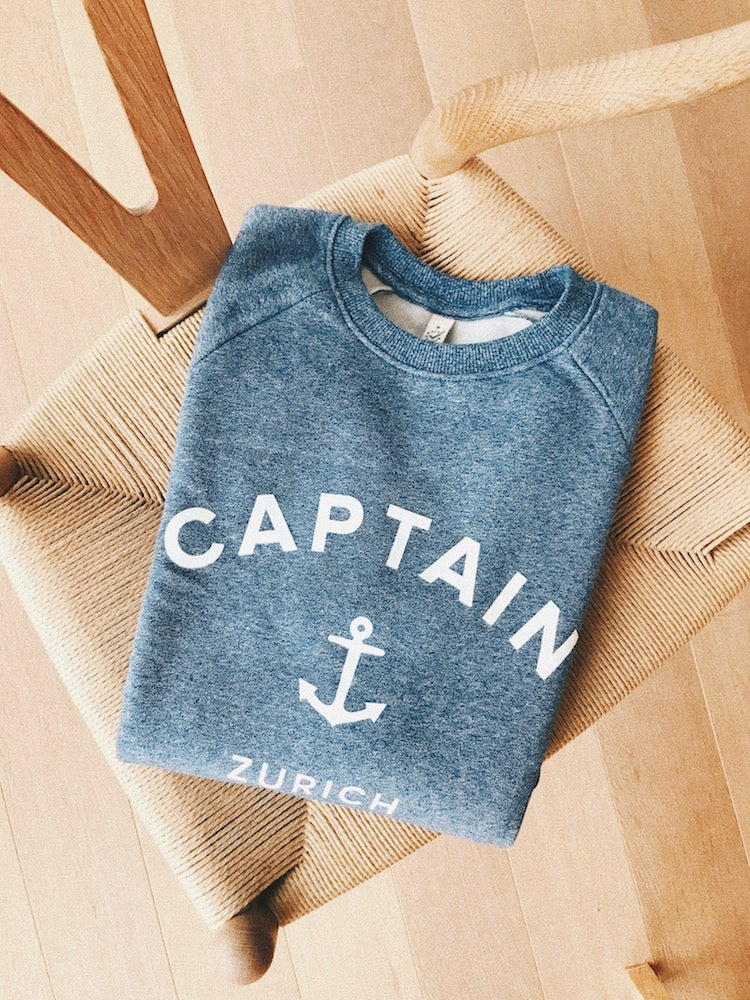 Image of Captain Sweatshirt Light Blue
