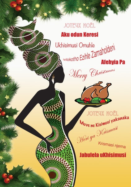 Image of African Christmas Cards X 5