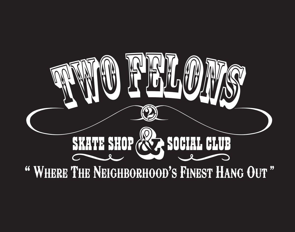 """Two Felons """"Social Club"""" (Blk/wht)"""