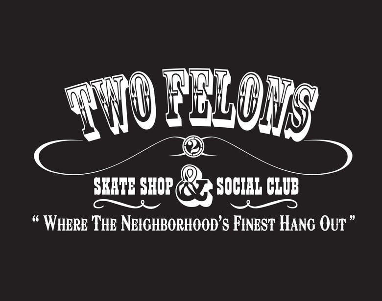 "Image of Two Felons ""Social Club"" (Blk/wht)"