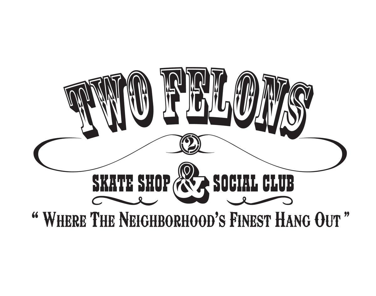"""Two Felons """"Social Club"""" (wht/Blk)"""