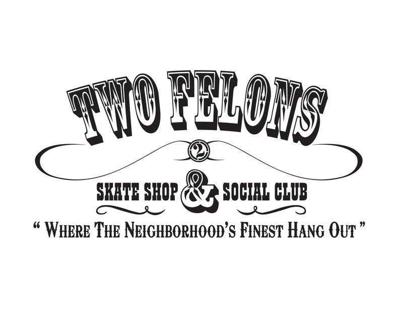"Image of Two Felons ""Social Club"" (wht/Blk)"