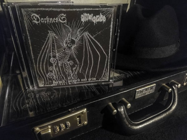 Image of HORNED, WINGED AND GRIM [2018 | Split w/ DARKNESS | CD | Fistbang Records/War Productions]