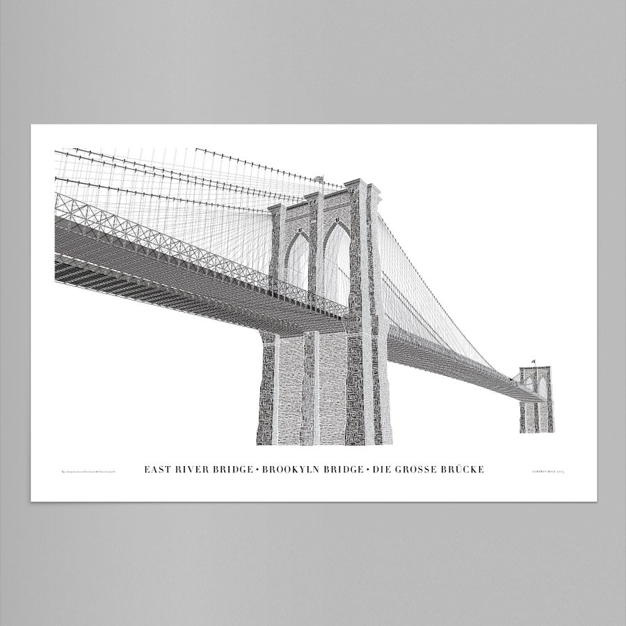 Image of Brooklyn Bridge Reimagined – Typo Edition