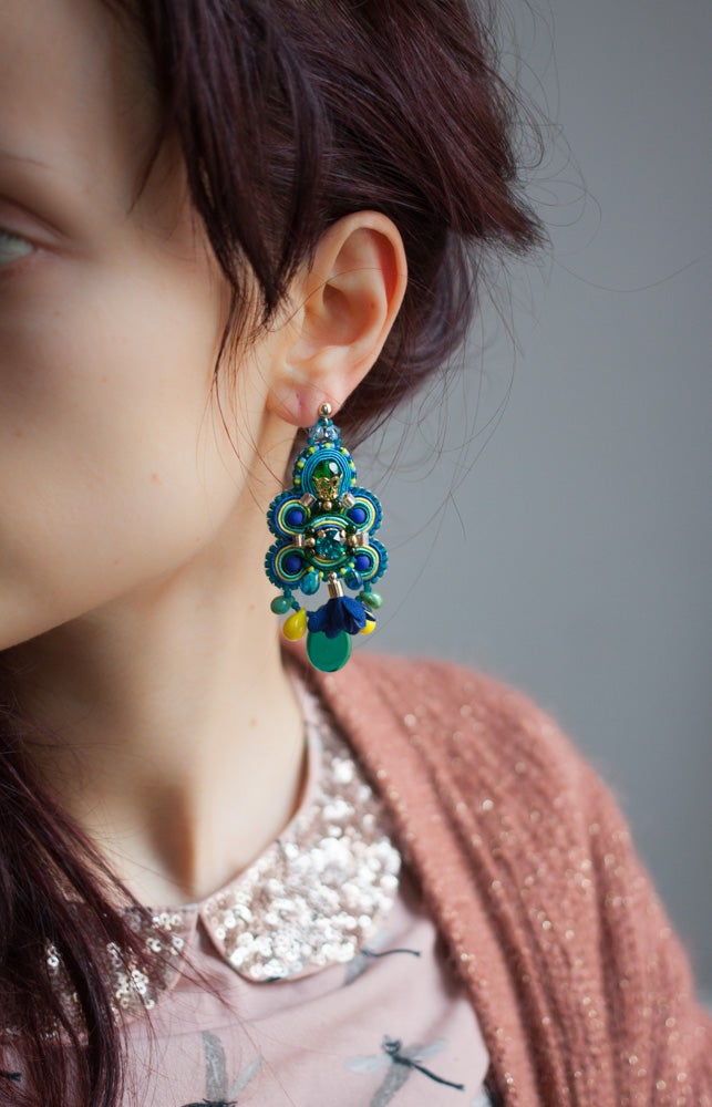 Image of Glory Earrings - Eclosion crépusculaire
