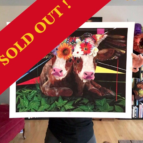 """Image of """"Sacred Cows..."""" 17""""x22"""" Giclee Fine Art Print (Limited Edition of 25)"""