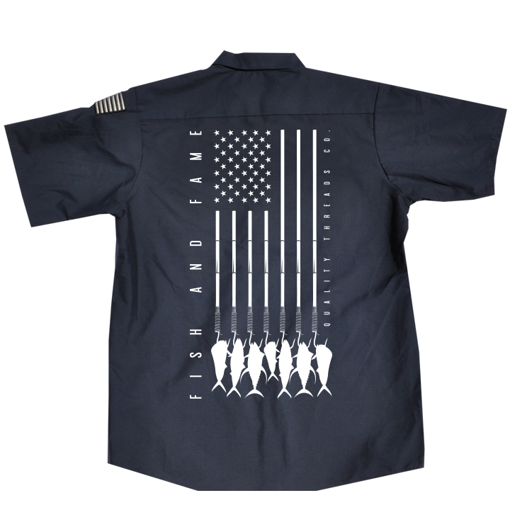 Image of US-747 Crew Shirt (true navy)