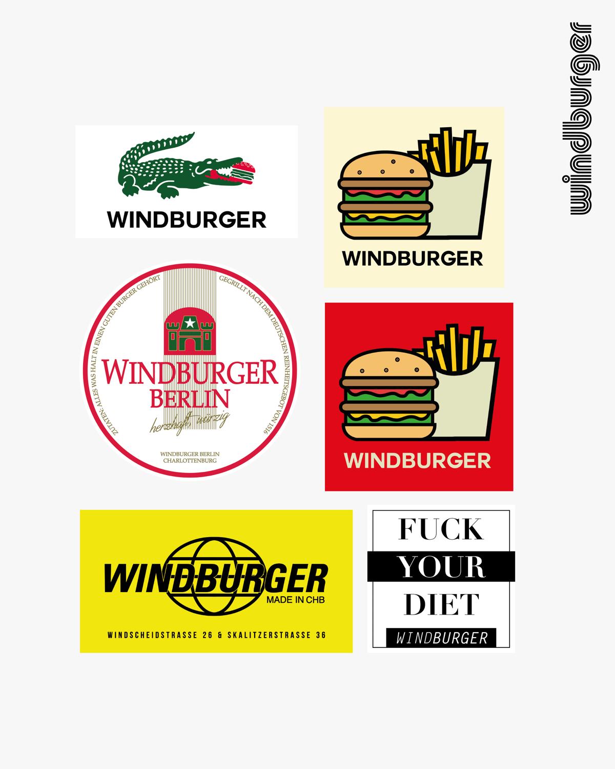 Image of windburger sticker bundle