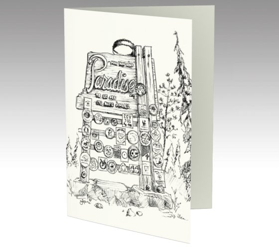 Image of Paradise Sign Greeting Cards (Set of 3 cards)