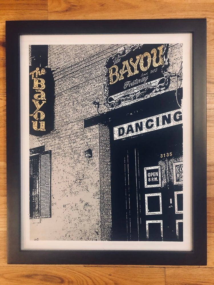 Image of The Bayou Silk Screened Art Print, Silver & Gold Version