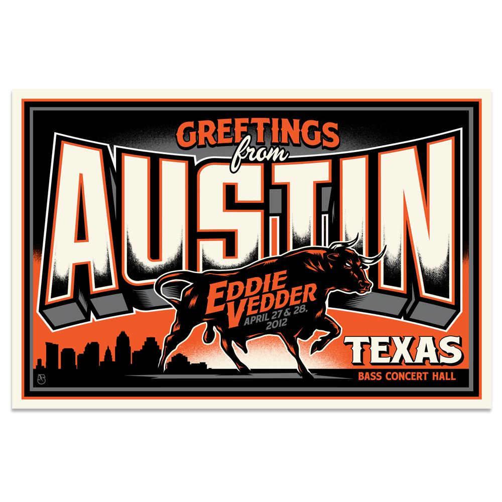 Image of Eddie Vedder Postcard (Austin, TX)