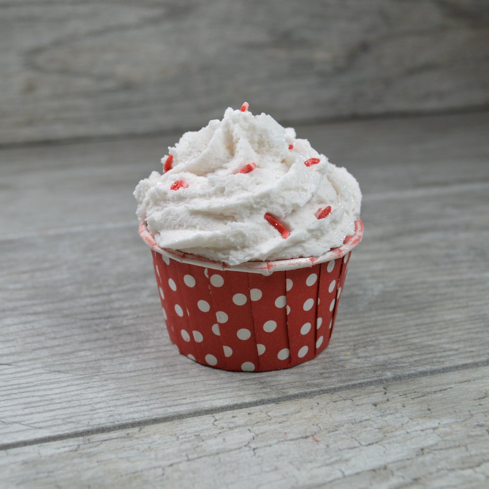 Image of Twisted Peppermint Bath Bomb Cupcake