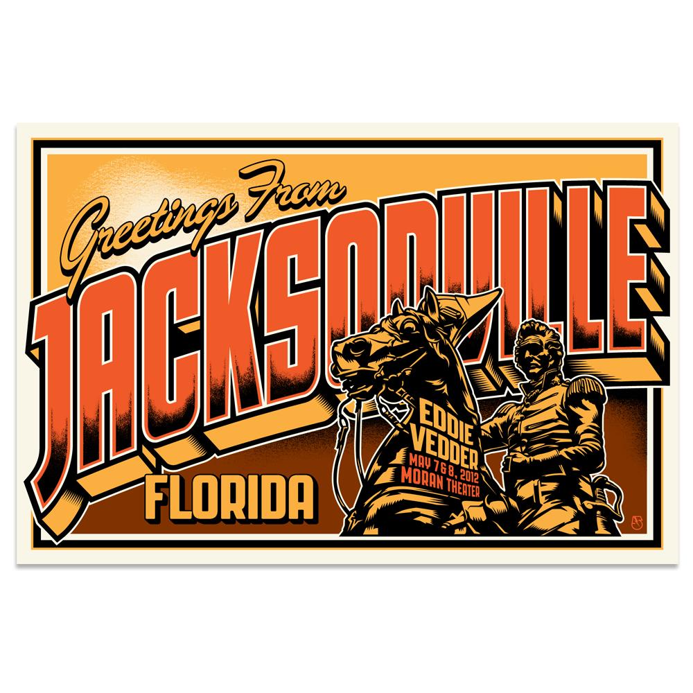 Image of Eddie Vedder Postcard (Jacksonville, FL)