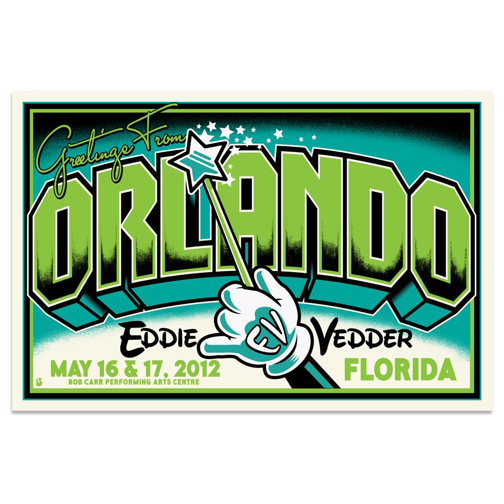 Image of Eddie Vedder Postcard (Orlando, FL)