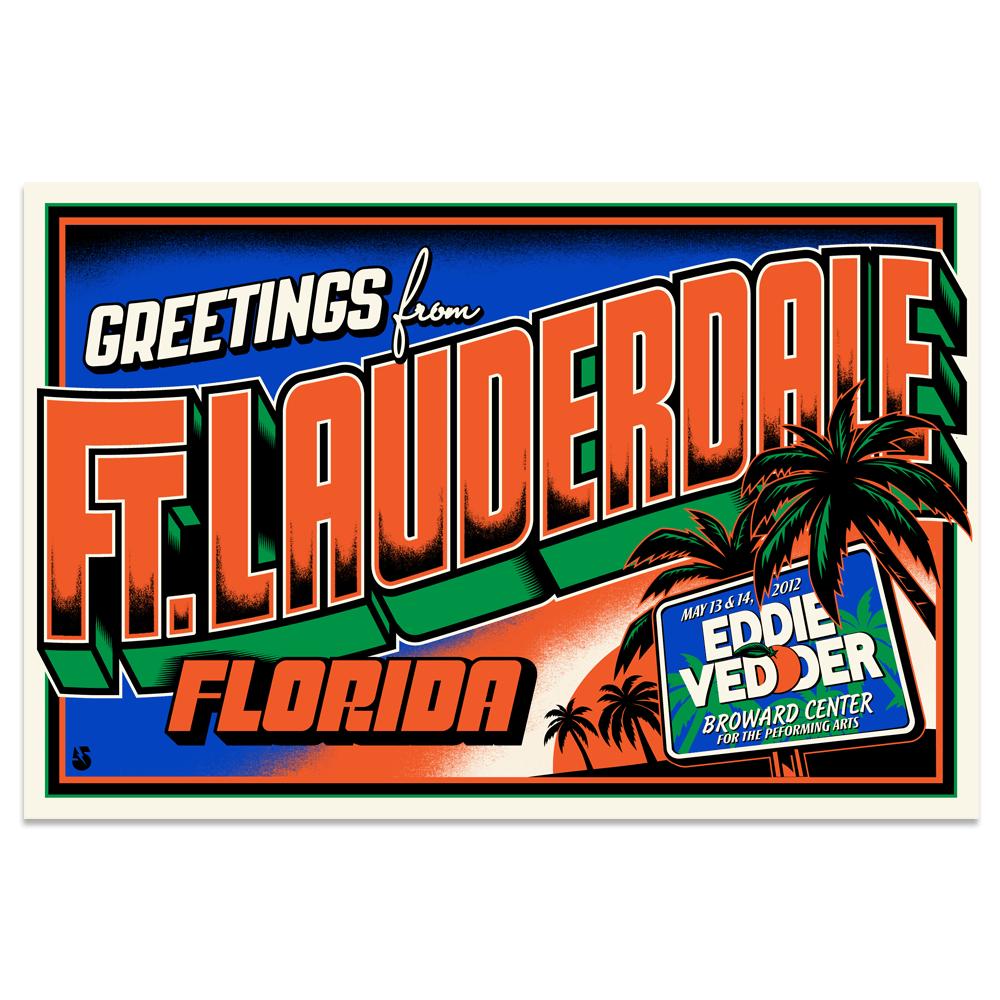 Image of Eddie Vedder Postcard (Ft. Lauderdale, FL)