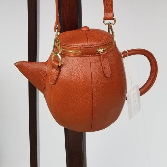 Image of Leather Teapot Crossbody Purse (3 Color Options)